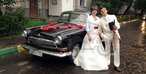 газ 21 волга, цвет черный , на свадьбу