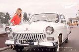Инна Маликова на съемке клипа вся жизнь впереди. газ 21 белая волга с черными номерами